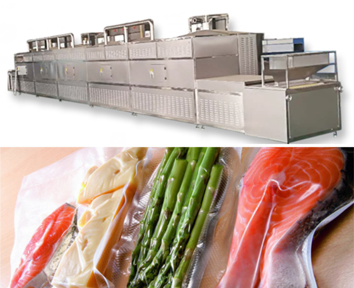 What are the advantages of vacuum-packed cooked microwave sterilizers?